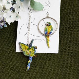 Parrot (Earrings Earrings Sterling Silver Valentine's Day Gift) ::C% Handmade Jewelry::
