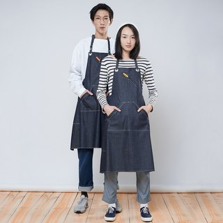 Rin City Apron ALE - Temperament Denim Slant Pen Worker Job Wear