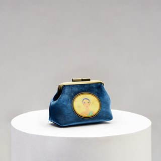 CoinQian Royal Garden Coin Purse Blue Vintage Gold Pack