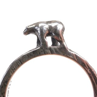 """Ermao silver"" refers to the landscape ─ [polar bear] Silver Ring"