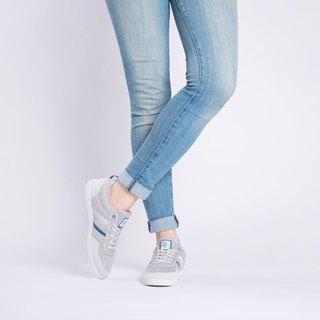 Baote bottle casual shoes Opale casual series twist gray / deep water blue girls style