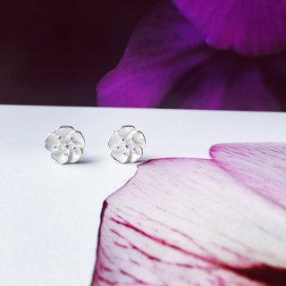 925 sterling silver elegant and lovely [flower series hibiscus flower ear]