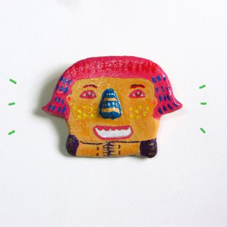 別針 Quirky Brooch series - Little Miss Pinky Hair