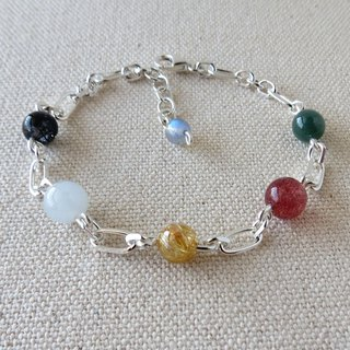 Sterling Silver**[璀璨光] Lucky Lucky Five Elements Bead Bracelet**** Increase overall fortune
