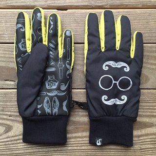 Mr. Beard - Waterproof Gloves _ Reflective Series _ Black / Mustard