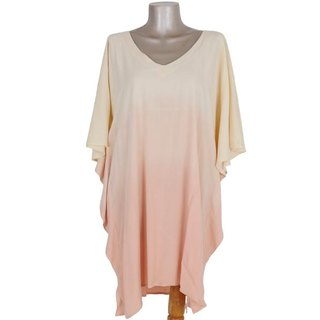 Ocean color gradient butterfly sleeve dress <shell pink>