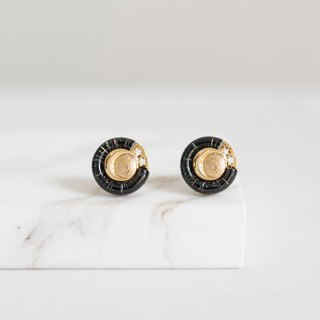 Vintage Early Button Handmade Earrings - Universe
