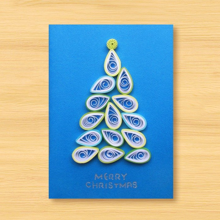 Handmade rolled paper card _ Christmas tree K ... Christmas card, Christmas