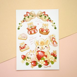 Postcard - Strawberry Rabbit 2.0