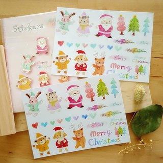 DIY cut their own Christmas stickers (2 1 group, optional paper)