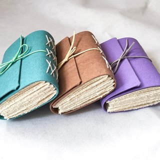 Handmade notebook - thick pound canvas series
