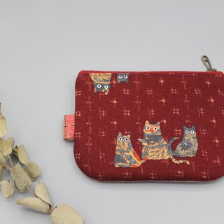 Ping Le Small Wallet - Lucky Cat (3 Cats)
