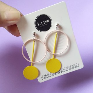 Candy store - lemon ear pin / ear clip handmade earrings Korea direct