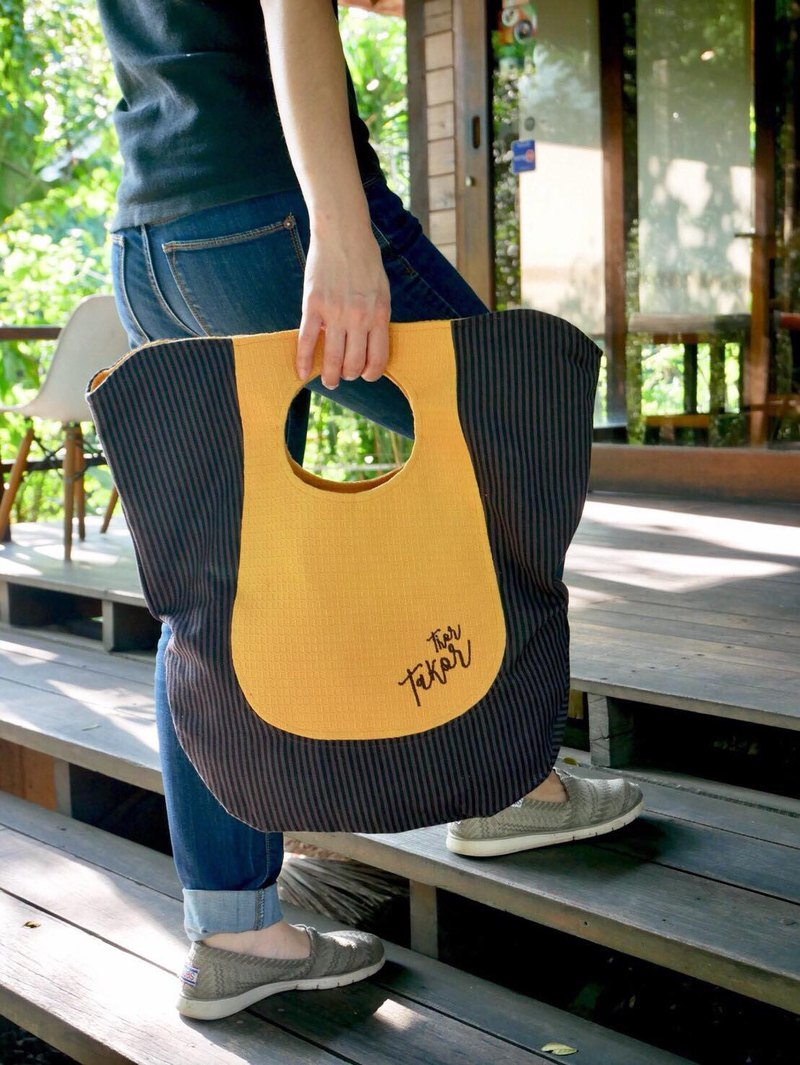Tote bag : Yellow and Dark purple