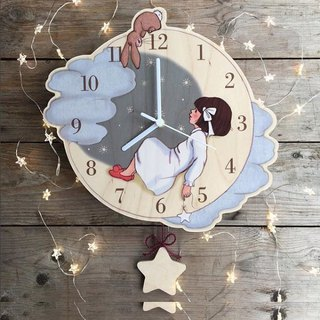 Belle & Boo hanging clock