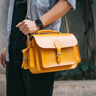 [tangent pie] handmade leather camera bag retro classic photography bag unisex honey color
