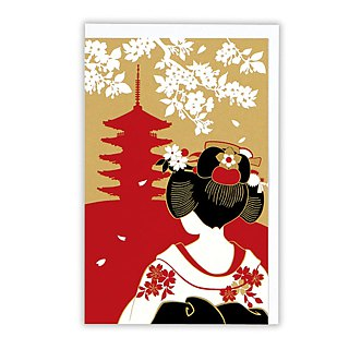 Shrine kimono festival senior and paper [Hallmark-card classic wind / multi-purpose]