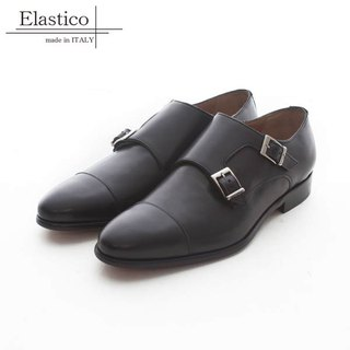 Elastico Italian classic horns Mengke shoes #283 gentleman black - ARGIS Japan handmade