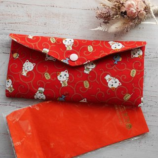 Lucky cat red envelope passbook storage bag