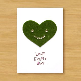 Handmade small turf card _ Love Every Day ... birthday card, lover card, mother card
