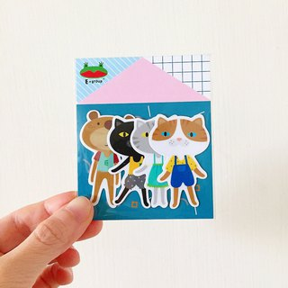 E*group House Series C Blue Green Waterproof Stickers Stickers Sticker Pack