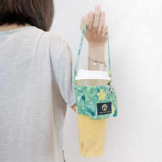 Beverage bag MAYEE numb small yellow flower print