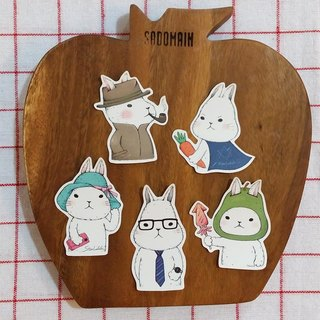 Matte texture sticker / Meng Meng rabbit / Group 9 (5 in)