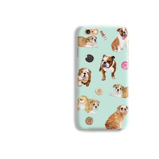 English Bulldog Matt hard Phone Case iPhone X 8+ 7 6 S8 plus Samsung S8 S7 S6 LG