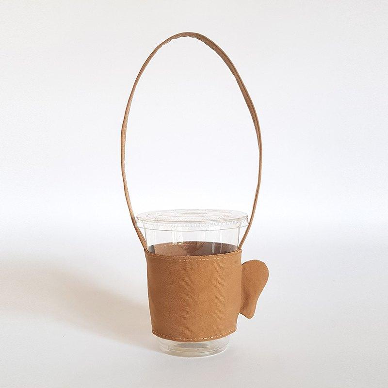 你的臉我的臉環保飲料杯袋/好耳朵
