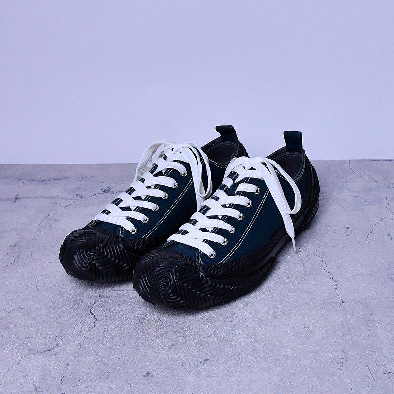 UNIC 休閒鞋 深藍 石蠟帆布 設計 男鞋 台灣製造