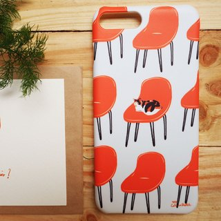iphone case print high quality with cat on chair