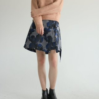 Bluet Wrap Skirt {Limited Edition} Tin Flower Gradient Printed Skirt (Hong Kong)