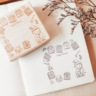 Original hand account wood chapter | small toast note