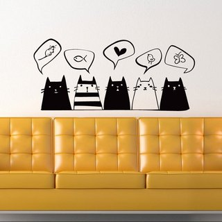 Smart Design Creative wall stickers Incognito ◆ cat Private Message (8 colors optional)