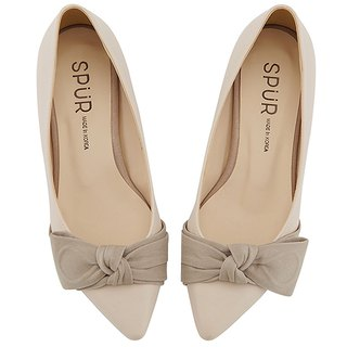 SPUR ROMANTIC KNOT BOW FLATS MS9031 BEIGE