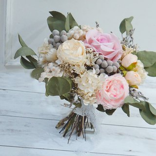 Amor Floral - artificial silk flower mixed dry bouquet bridal bouquet / wedding photography (A)