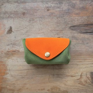 Three-layer fan-shaped wallet/you-go card pack - orange green yellow