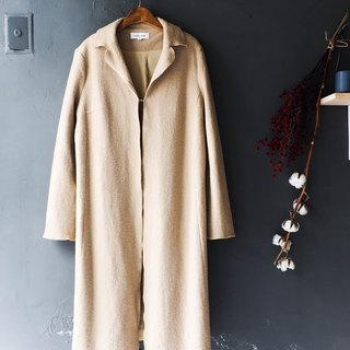 River Hill - Fukui beige cream cheesecake antique wool sheep wool wool coat jacket vintage wool vintage overcoat oversize