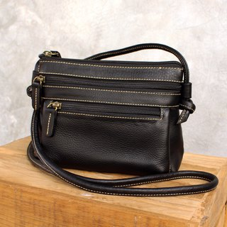 Mini Cross Body Bag - Cookies - Black (Genuine Cow Leather) / 皮 包 / Leather Bag