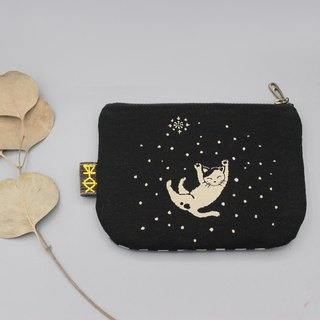 Stock - Ping An Xiaole Wallet - Cat Gubu's Cat Holds the Moon