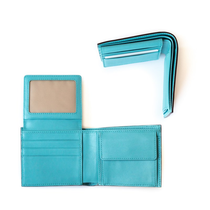 Patina 真皮手工訂製 6卡 零錢袋 摺疊 短夾