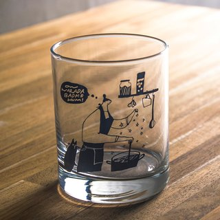 Make-a-wish - Thick-bottom Illustrated Glass