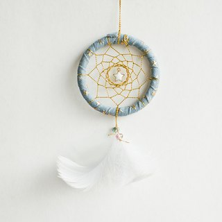 Dream Catcher 8cm - Light Blue + Gold Line (Dening Style Series) - Exchange Gifts