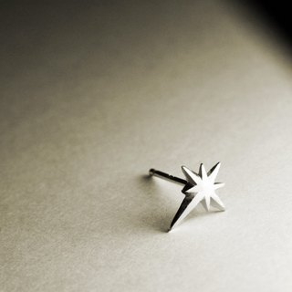 Eight star silver earrings (single / pair)
