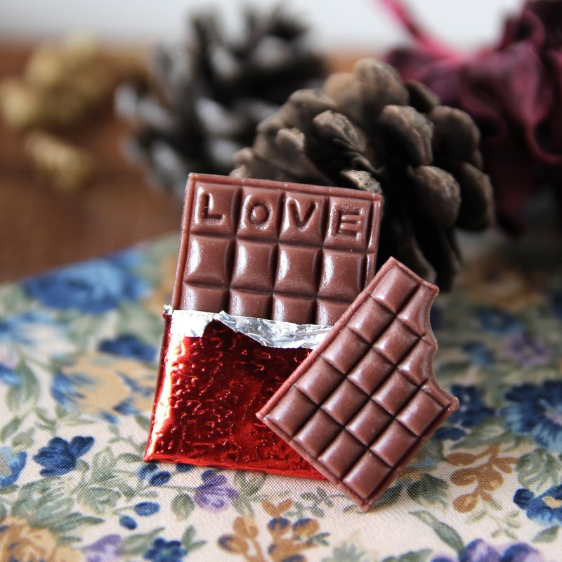 I really want to bite a piece of pure chocolate piece magnet with packaging custom word