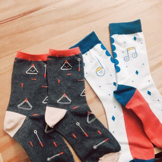 Triangle & Musical Note Socks - Set of 2
