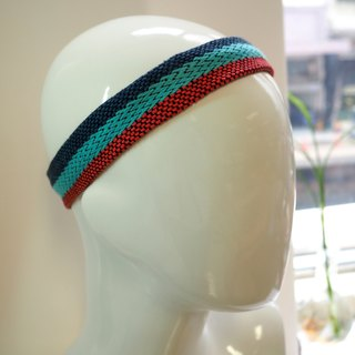 Weaving Colored Head with Blue Red