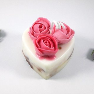Red Rose Love Cake Flowers Scented Candles · All Flowers Lit Candles 100g