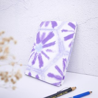 :Purple Flower: Hadmade Tie dye Book Cover for A5 Adjustable Xmas gifts