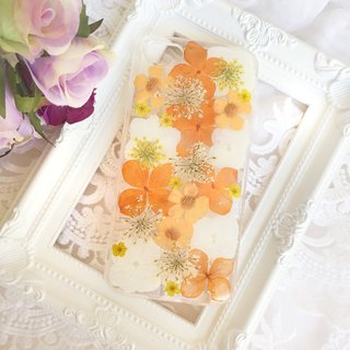 Pressed flower phone case - Orange Blossom for iphone 5/5s/SE/6/6s/6 plus/6s plus/7/7plus/Samsung S4/S5/S6/S6Edge/S7/S7Edge/Note3/Note4/Note5